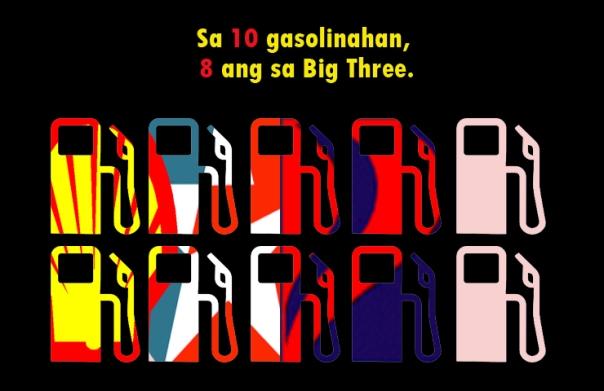8/10 gasolinahan, sa Big Three